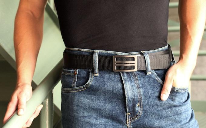 X1 Buckle & Black Reinforced Nylon Belt