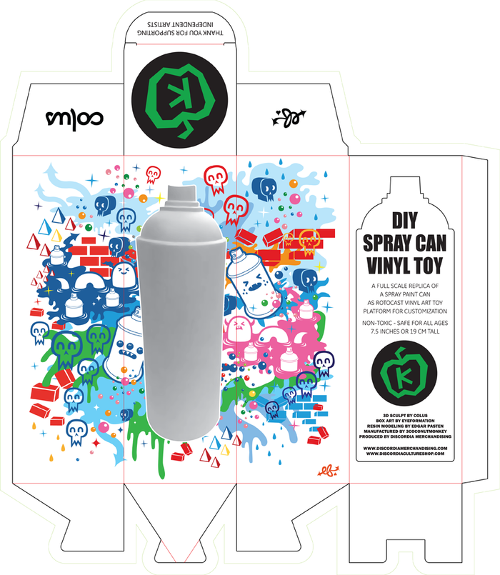 DIY Spray Can Vinyl Toy - Customizable Art Toy Platform by