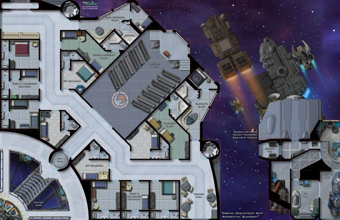 Orbital Deployment Ship: Residential Quadrant