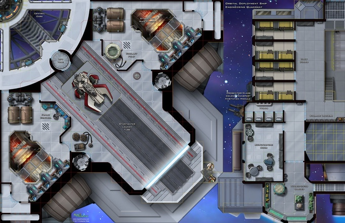 Orbital Deployment Ship: Engineering Quadrant