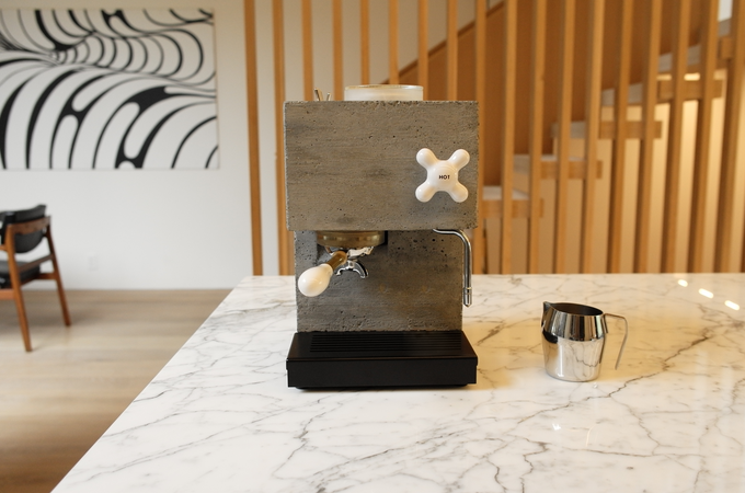 AnZa: Redefining the Espresso Machine in Concrete and Corian