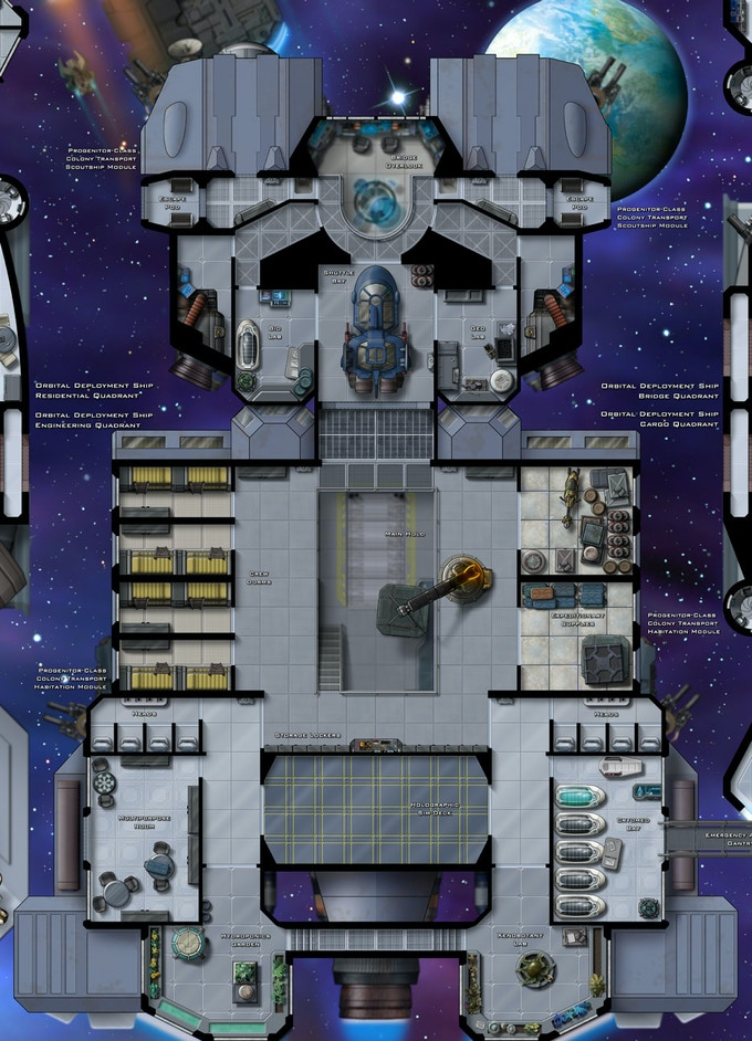 Progenitor-Class Colony Ship, Upper Deck