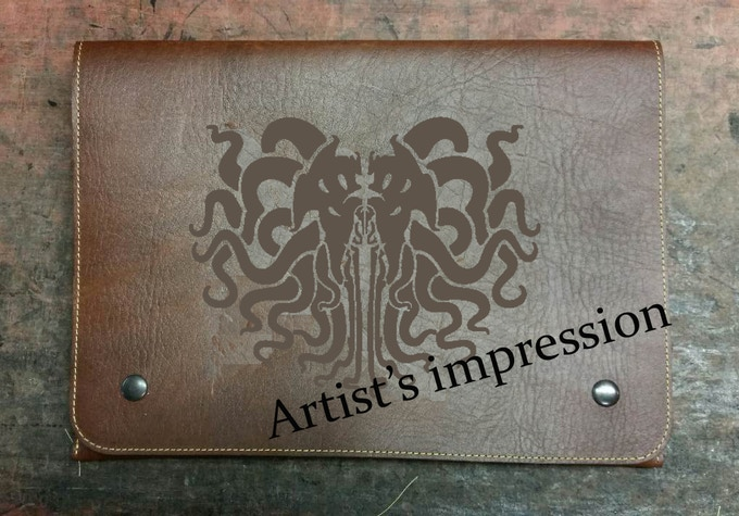 Great Cthulhu embossing - artist's impresssion