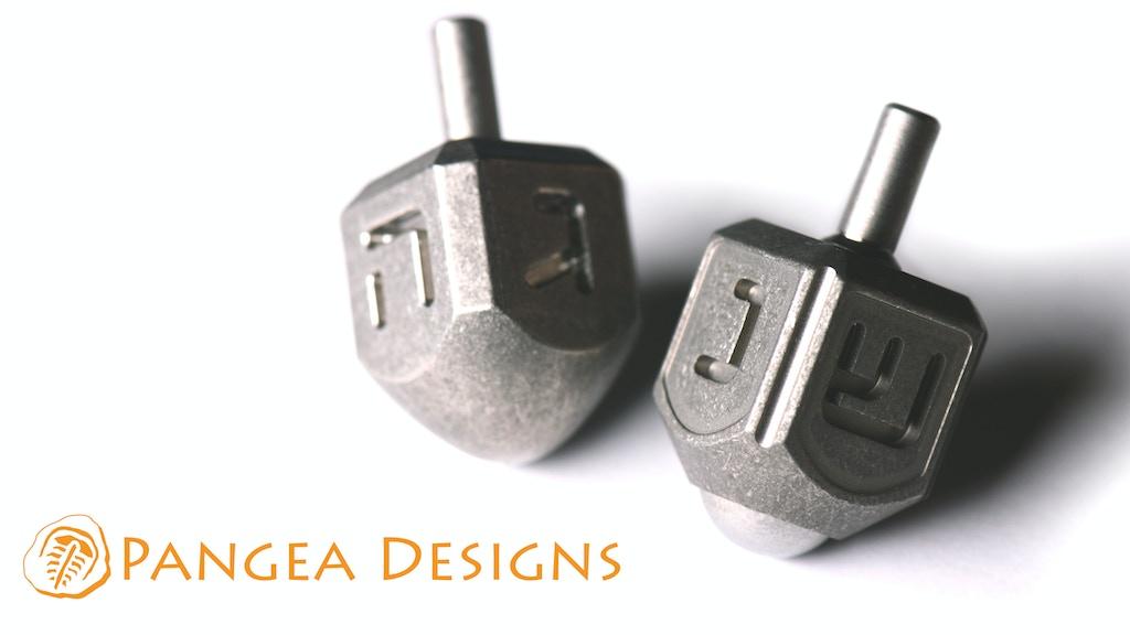 Titanium Edc Dreidel By Pangea Designs Michael Dickson Kickstarter
