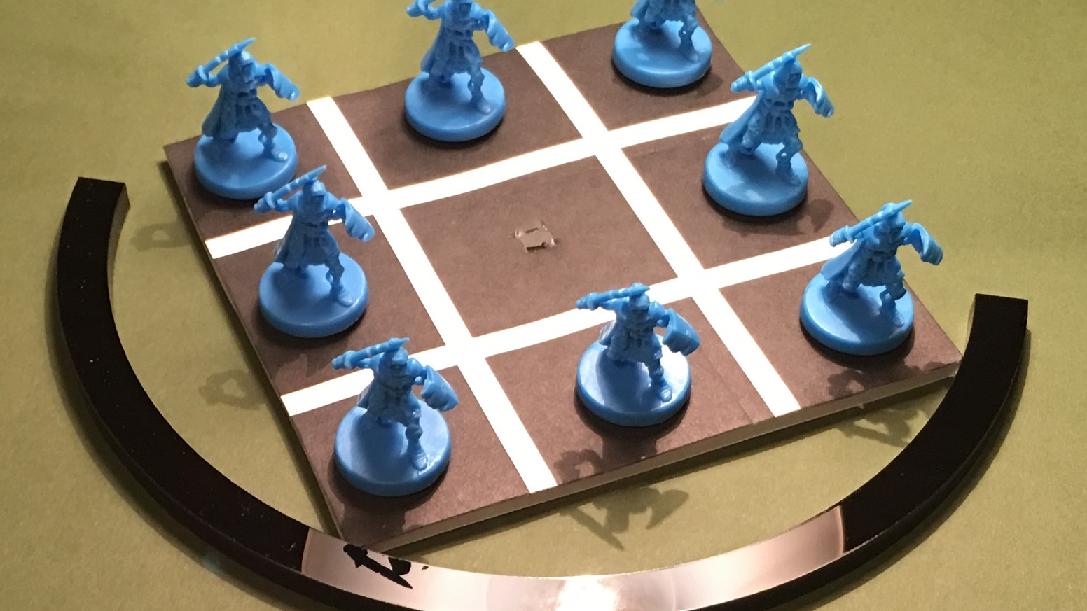 A precise movement tool for tabletop miniatures gaming, my pivoting arcs will help make your game experience accurate & hassle free! Visit us at peacekeepergames.net or on Facebook, and feel free to contact us at peacekeepergames@yahoo.com. Thanks!