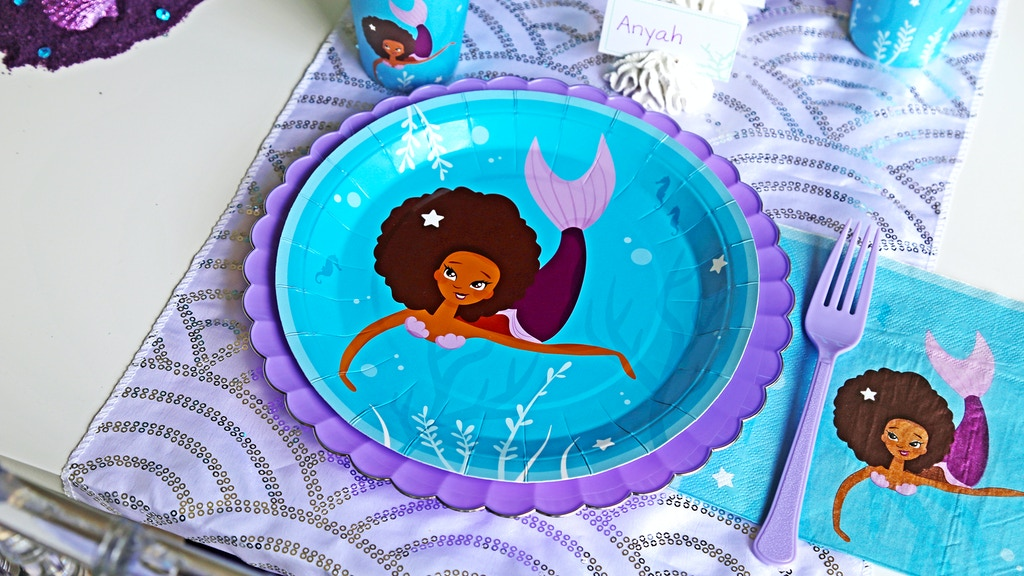 Party supplies celebrating children of color. project video thumbnail