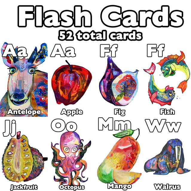 These Are Perfect To Use As Flash Cards Help Children Learn Their Letters Plants And Animals Learning A Wonderful Way Build Language