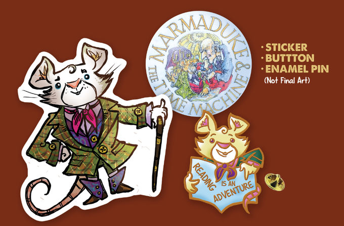 Sticker, Button, and Pin (not final designs, but close!)
