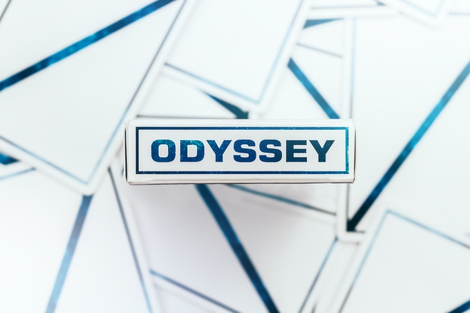 Back and Box of Odysseys -Photo by Unique Playing Cards