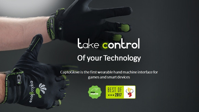 The first wireless wearable controller for PC, mobile and smart devices. Take control with nature's most perfect interface: your hand!
