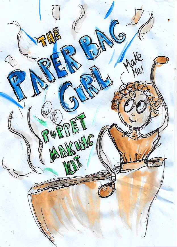 Make your very own Paper Bag Girl Puppet with this Kit!