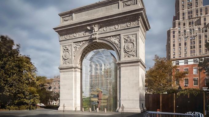 Installation concept rendering, Washington Square Park