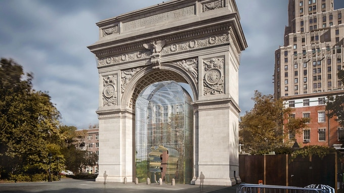 Installation concept rendering, Washington Square Park