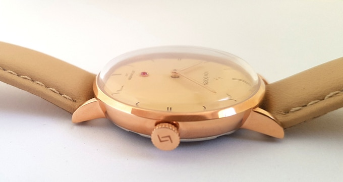 Champagne Dial - Rosegold Case with Beige Leather Strap