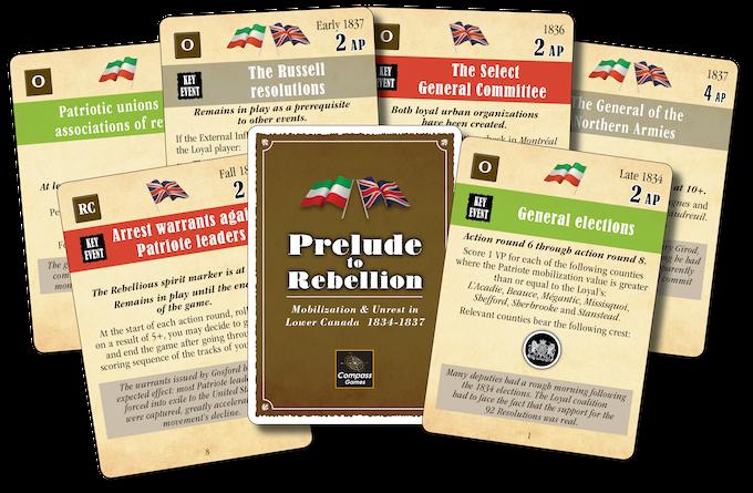 147 Event Cards split into 4 decks