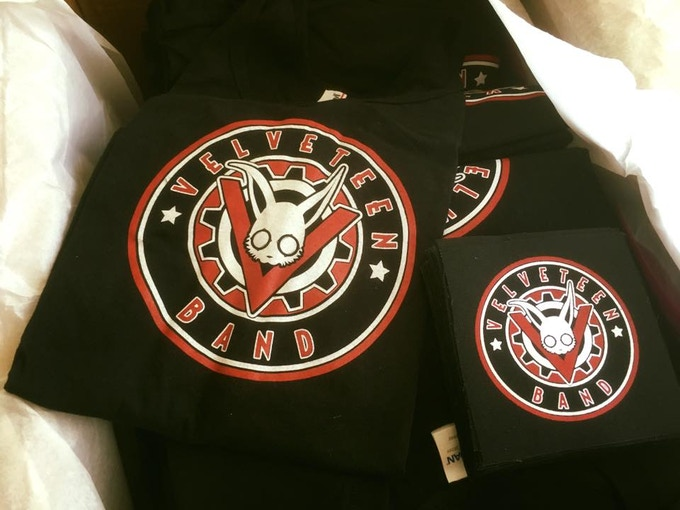 On the left, a closer look at our new shirt design.  On the right, our limited edition canvas patch.