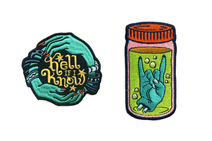 Kate Sherron Patches (not actual size)