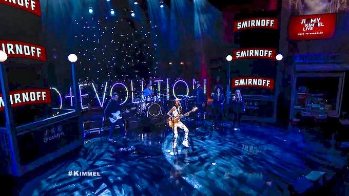 Grammy Award winning artist; Esperanza Spalding uses Audiolux One lights up the stage for millions on Jimmy Kimmel Live!