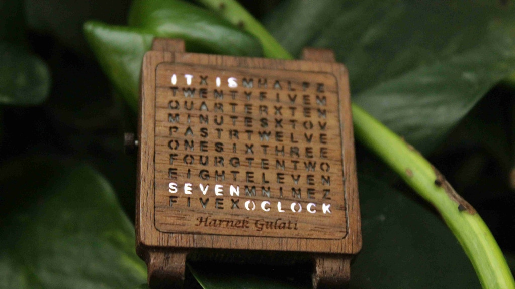 Wooden Word Watch project video thumbnail