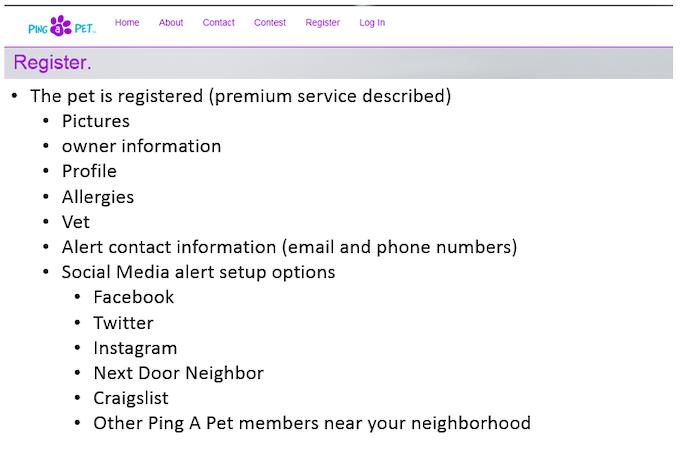 Register your pet