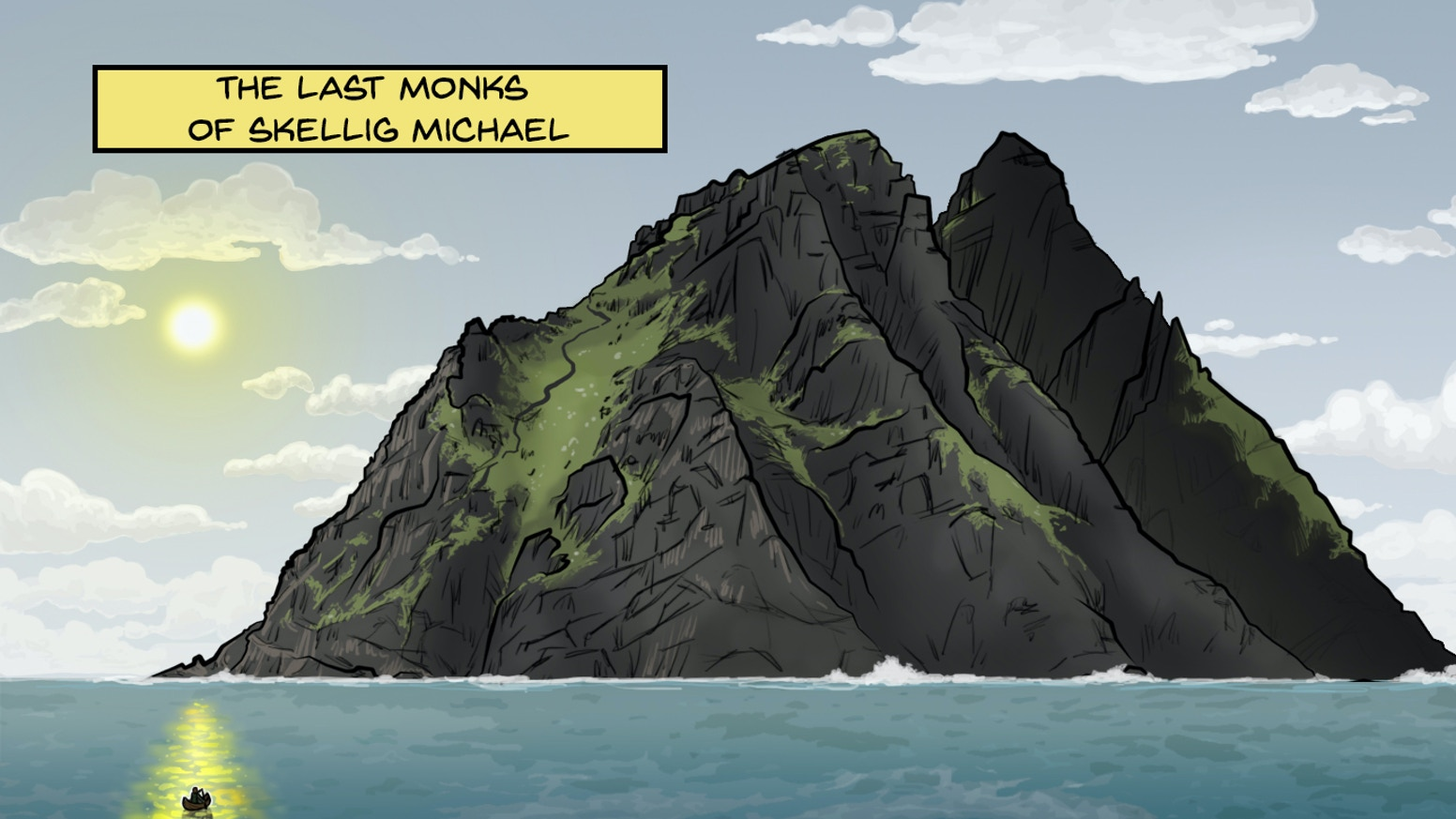 An exciting new comic book inspired by the Star Wars filming location Skellig Michael, and the island's ancient real-life history.