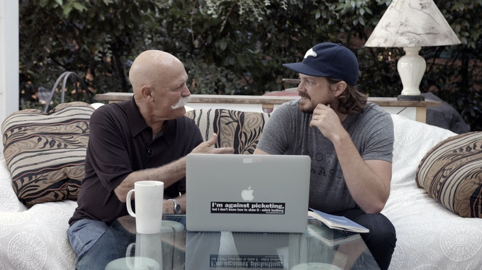 Will Vinton with director Marq Evans