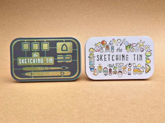 The tin will be available in a choice of 2 different designs