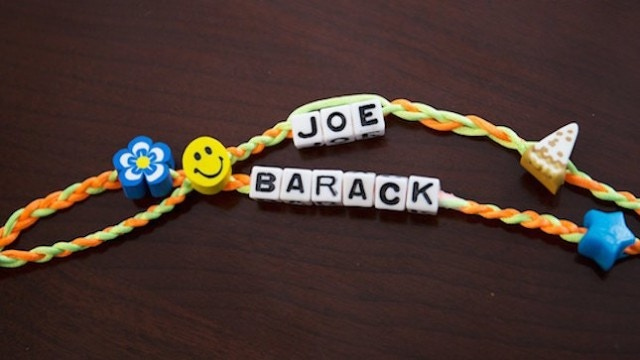 This could be your pledge reward! Replica Friendship Bracelets will look exactly like the original Joe gave to Barack on his 55th Birthday.