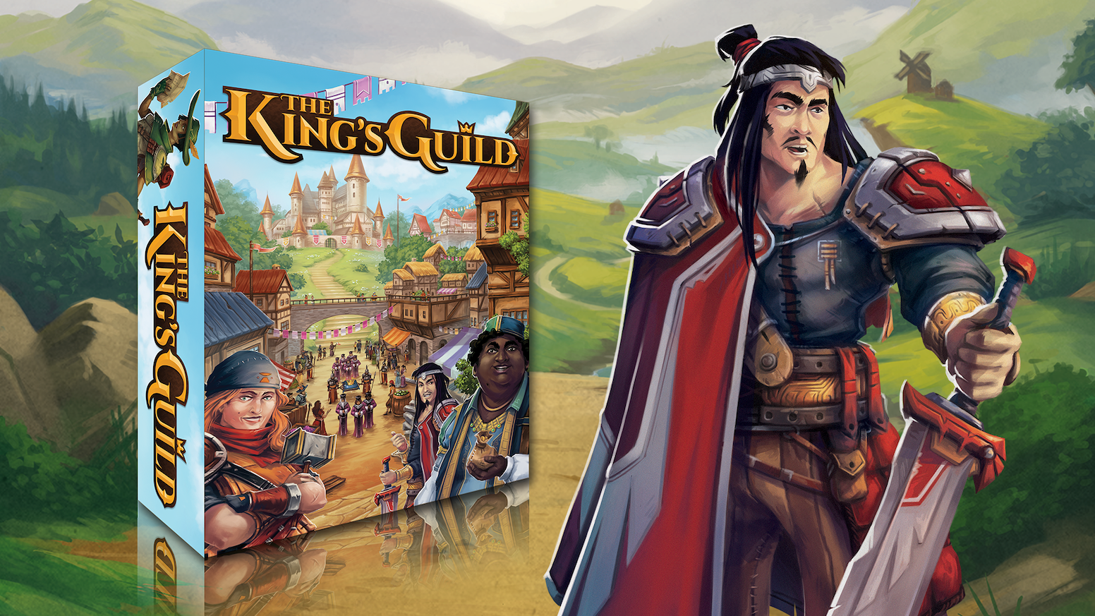 Forge powerful items, recruit heroes, earn treasure, & expand your empire to lead your guild to prosperity in this strategy board game.