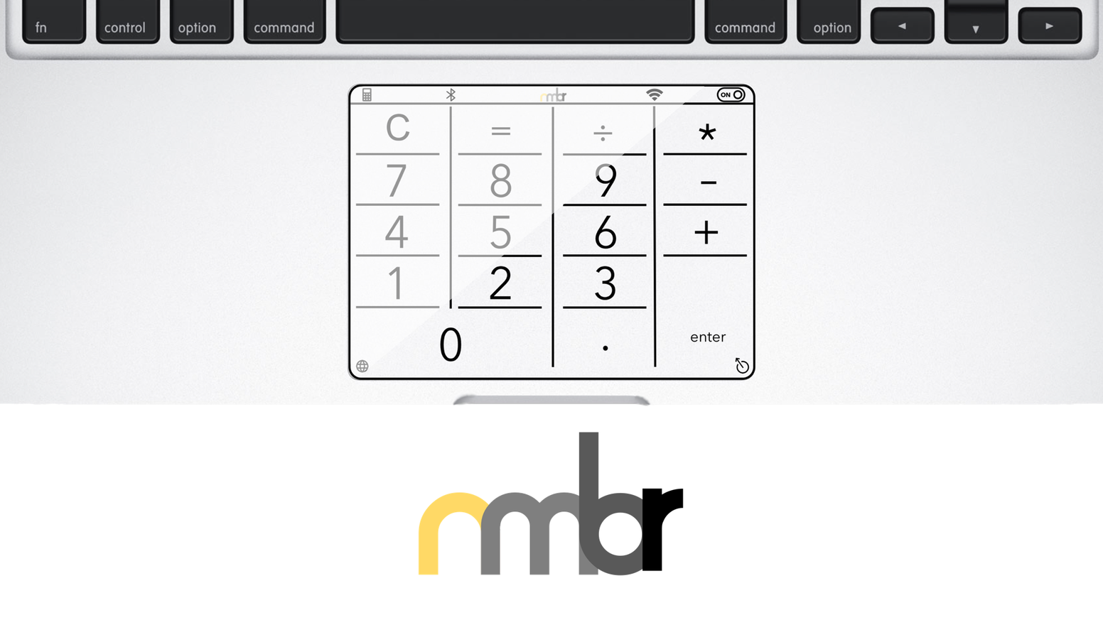 nmbr™ adds a keypad to your MacBook for quick data input, swift shortcuts, trackpad protection and so much more.