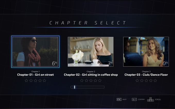 Chapter select screen.