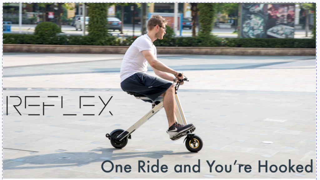 Reflex Easy Portable Electric Bike / eScooter Transportation project video thumbnail