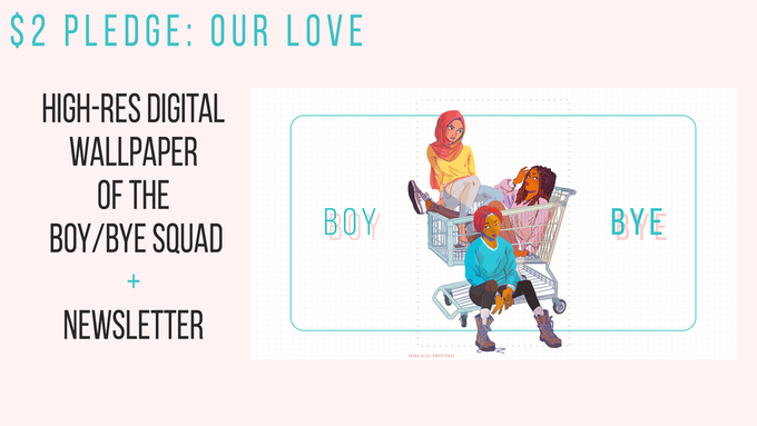 We cherish your love & appreciation! Every bit of support means a lot. In return, we will send you a High Res wallpaper of the BOY/BYE squad print and add you to our newsletter to keep you updated on all future projects. :-)