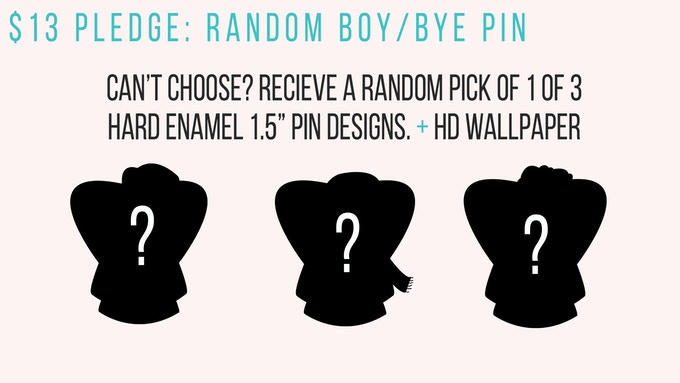 """Can't choose? Me neither. Receive a random pick of our amazing hard-enamel 1.5"""" pins featuring a woman of color not giving an F about the next boy."""