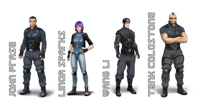 Early artwork of main characters