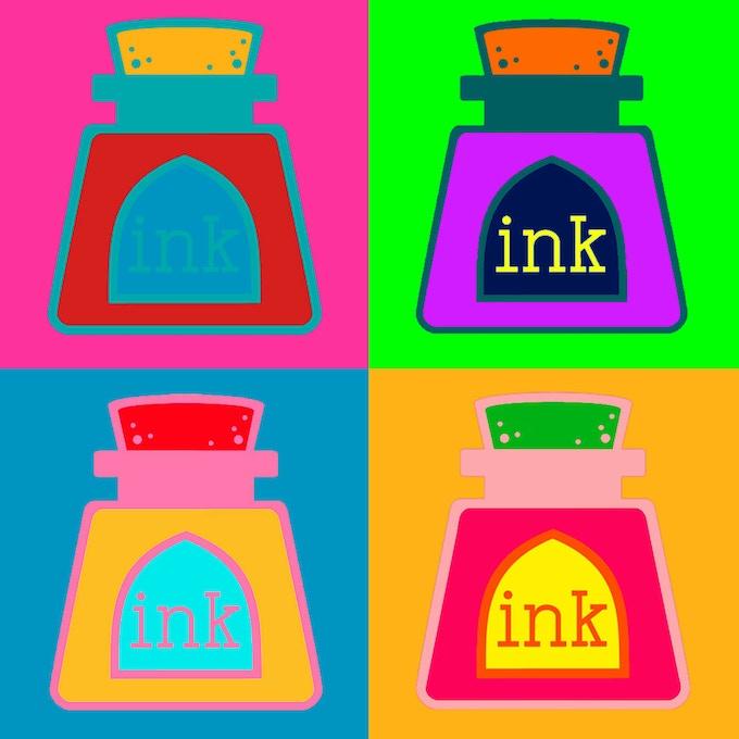 Ink Bottle Postcard