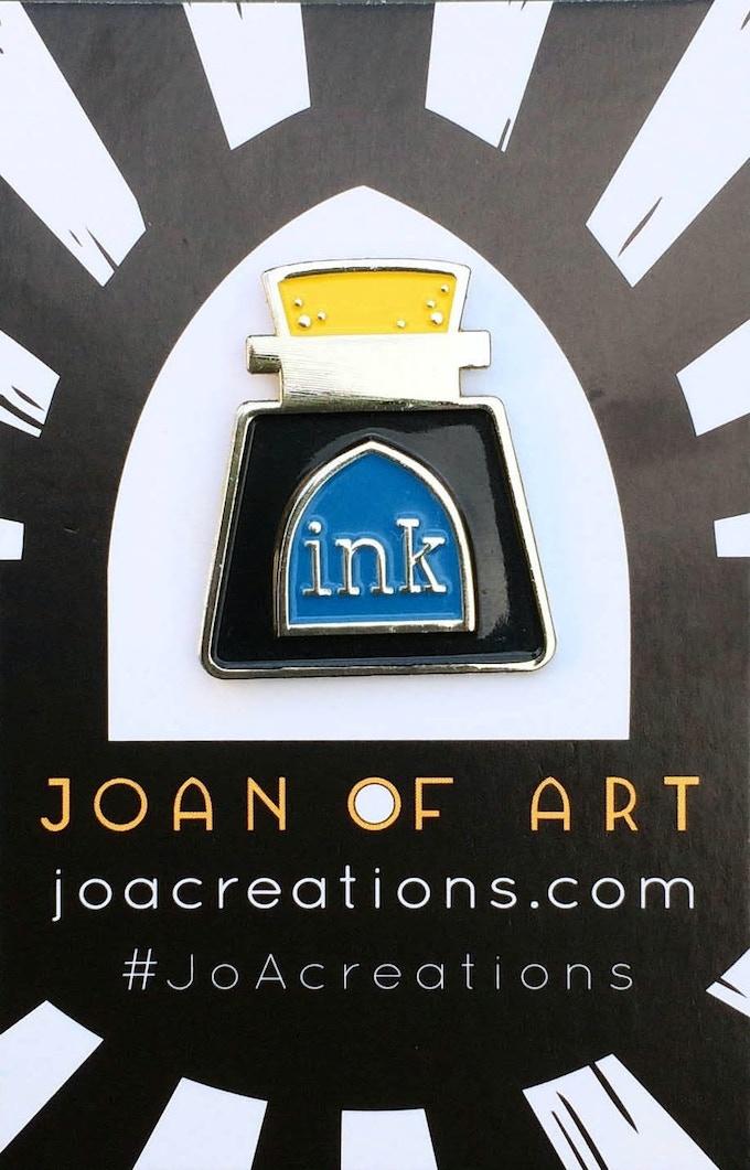 Silver Ink Bottle Pin