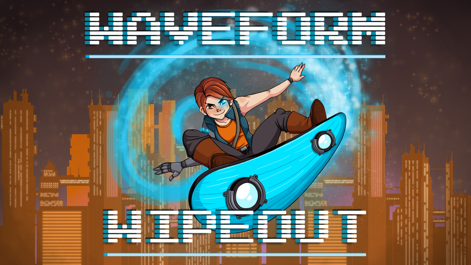 Waveform Wipeout is a game where the player must surf on (and do rad tricks off of) audio waves generated based on your music.