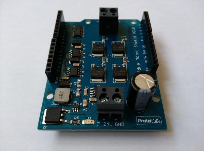 Final Prototype Arduino H-Bridge Shield