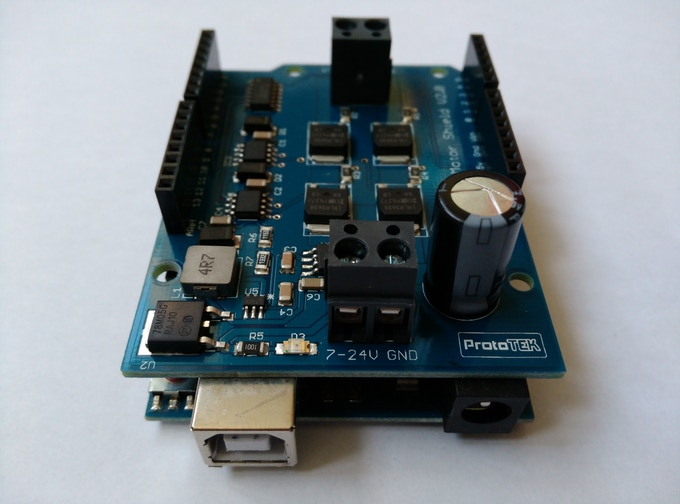 H-Bridge Shield connected to Arduino