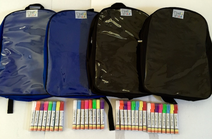 Backers will get this amazing erasable backpacks with various colors