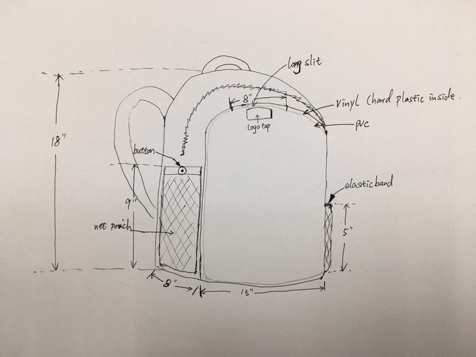 Sketch for manufacturer to consult