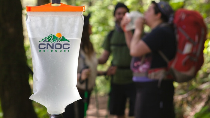 Easy to fill, versatile and lightweight collapsible water container to carry, treat, filter and drink water in the outdoors.