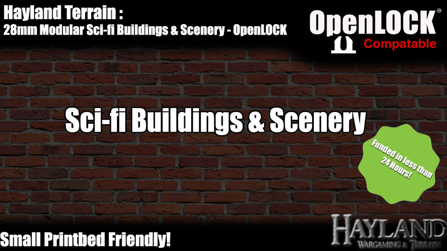 28mm Modular Sci-fi Buildings & Scenery - OpenLOCK - STL FILES - 3D printable Buildings and Scenery! - Small Print Bed Friendly. -