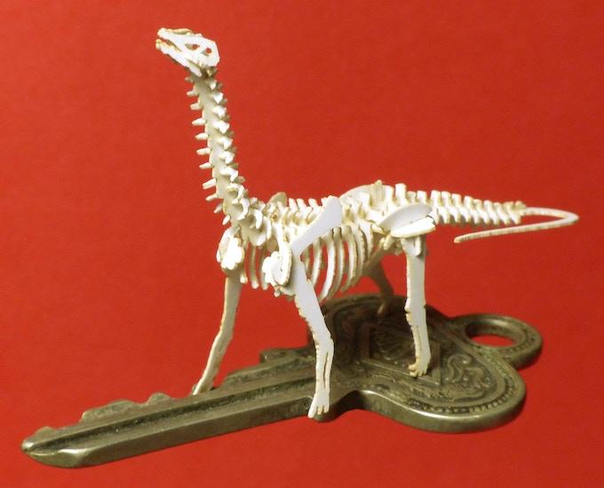 Brontosaurus on a house key