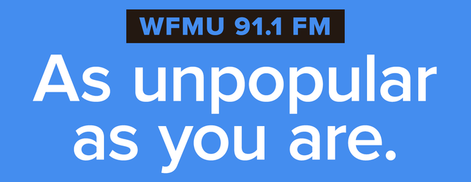 Billboard 4:   Donate to Kickstarter and email us at billboard@wfmu.org to cast your vote or to submit new billboard art/ideas!