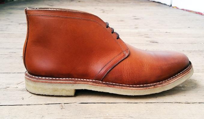 Barkan desert boots made in Suffolk