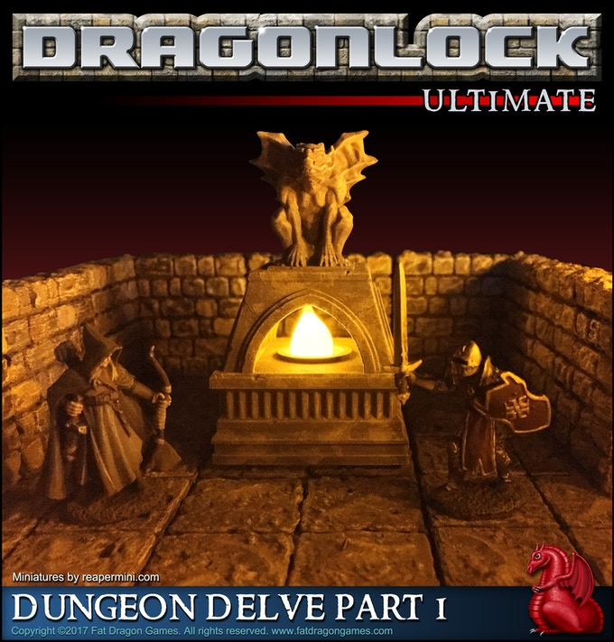 Gargoyle brazier model from the 'Dungeon Delve Part 1' pledge level.