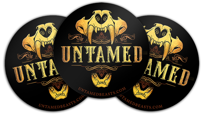 "Stickers are 4""x4"" in diameter and will be made from durable weatherproof vinyl."