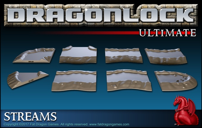 Digital render of the 'Dragonlock™ Ultimate: Streams' add-on set. Final design subject to change.